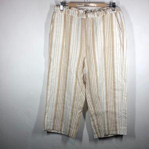 Chico's line stripe capri pants size Chico's 1/8